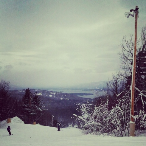 skiing at Gunstock in December